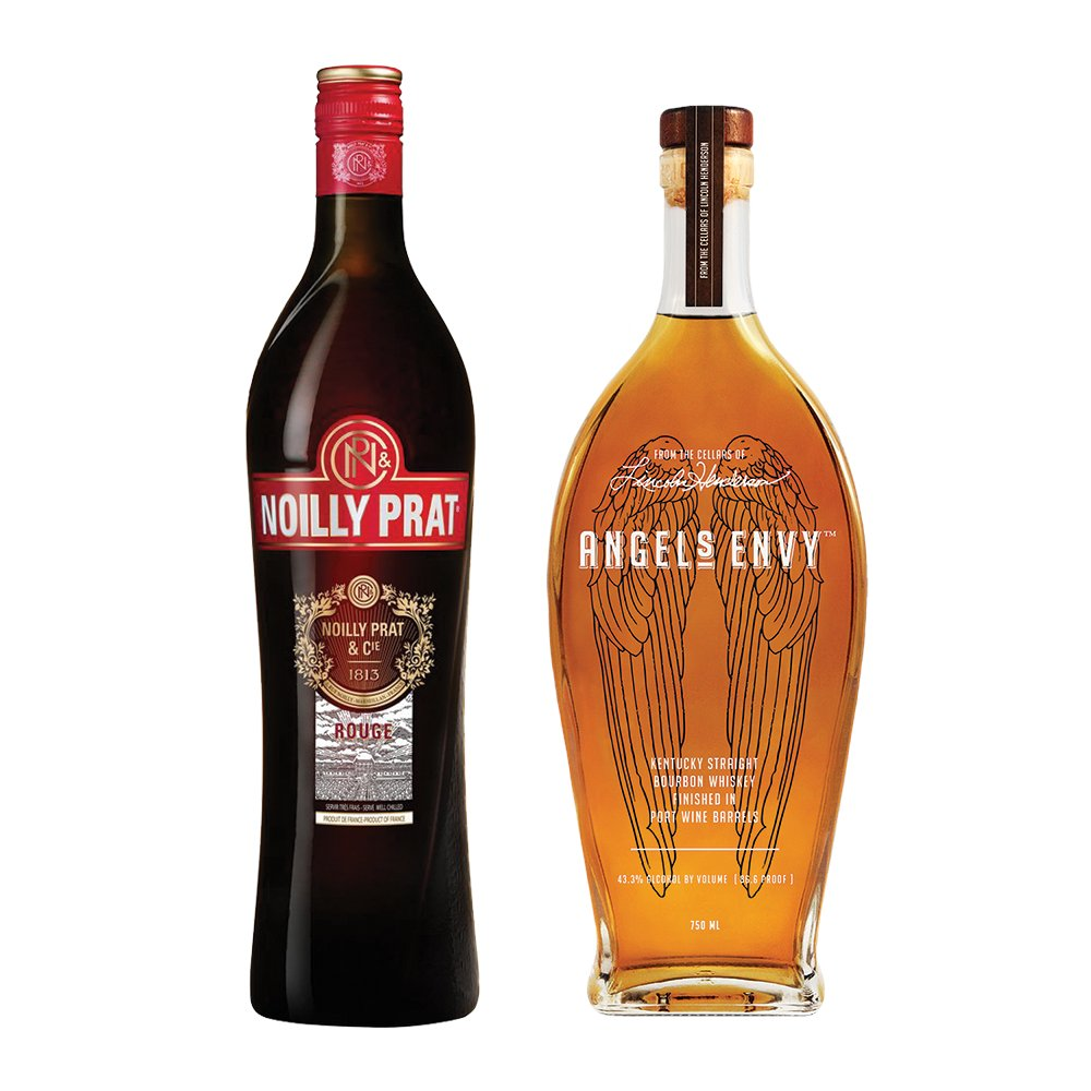 Mix a truly exceptional Manhattan with @Angels_Envy Kentucky Straight Bourbon  Finished in Port Wine Barrels and @NoillyPrat Rouge Sweet Vermouth—now available together from @ReserveBar