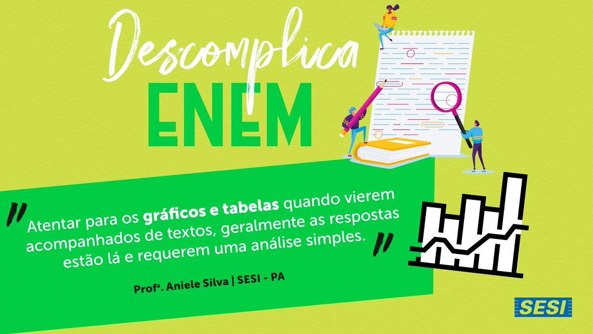O #ENEM tá batendo à porta!  Antes de abrir, dá só uma olhada nessa dica aqui, da professora Aniele Domingas Pimentel Silva, do SESI Pará.   Boa prova para todos os sesianos!  #SouSESI #SESIDescomplicaENEM  #ENEM2020