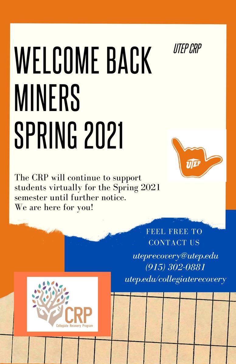 Utep Spring 2022 Calendar.Utep Recovery Utep Crp Twitter