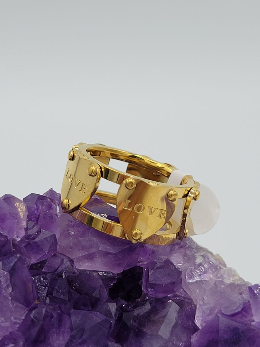 Fall in love with this Love and Hearts Band Ring in Gold, which is one of our best selling items! Visit Nancy's Jewelry Boutique to browse all of our latest rings, bracelets, earrings, and more!  #jewelry #gifts #happyholidays