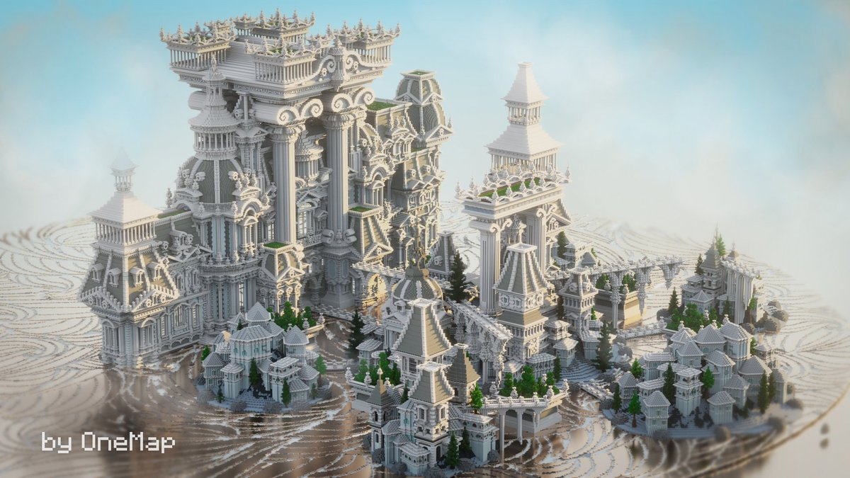 Towering towers; plenty of domes, and lots of gratuitous swirly bits: the builders at @OneMap11 prove once again that the Olympian gods truly had an impeccable sense of style!  Take a look behind the scenes of this heavenly build:  ↣  ↢