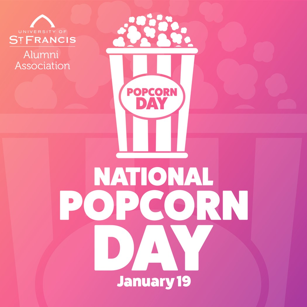 """""""POP"""" over to  to update your contact information today and be entered to win a USF T-shirt! #USFAlumni #NationalPopcornDay 🍿"""