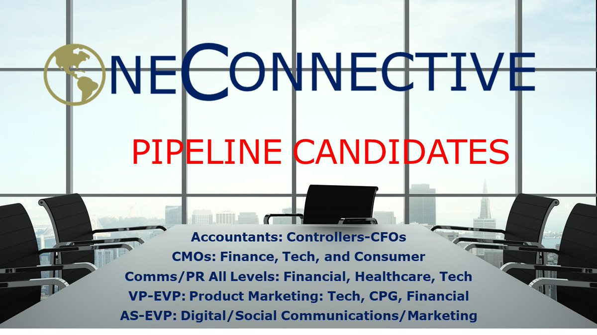 Always Connecting with Top Talent #timetoconnect OneConnective   #executivesearch #integratedmarketing #prjobs #communications #marketingjobs #publicrelations #finance #healthcare #publicaffairs #tech # #humanresources #humancapital