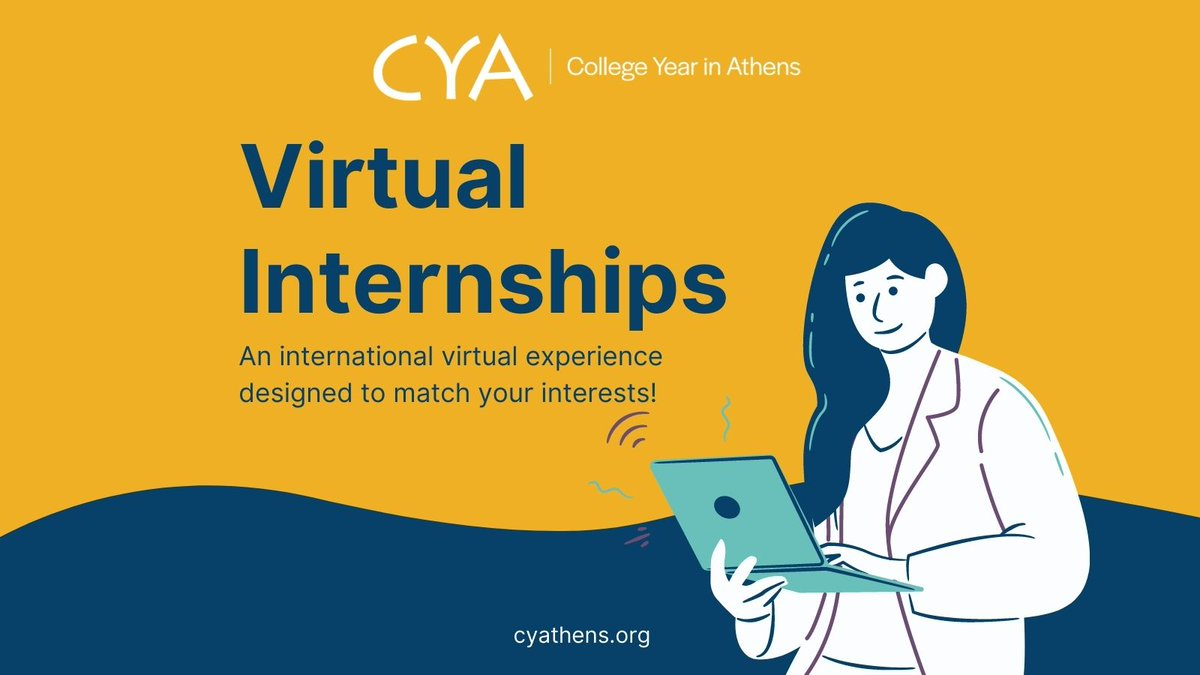 From Ancient #Heritage, to contemporary socio-economic sectors, to #Business and #Art, our Virtual #Internship program is designed to match your interests! More on our website:    #CYAthensVirtual #internationalexperience #ngo #internabroad #socialwork