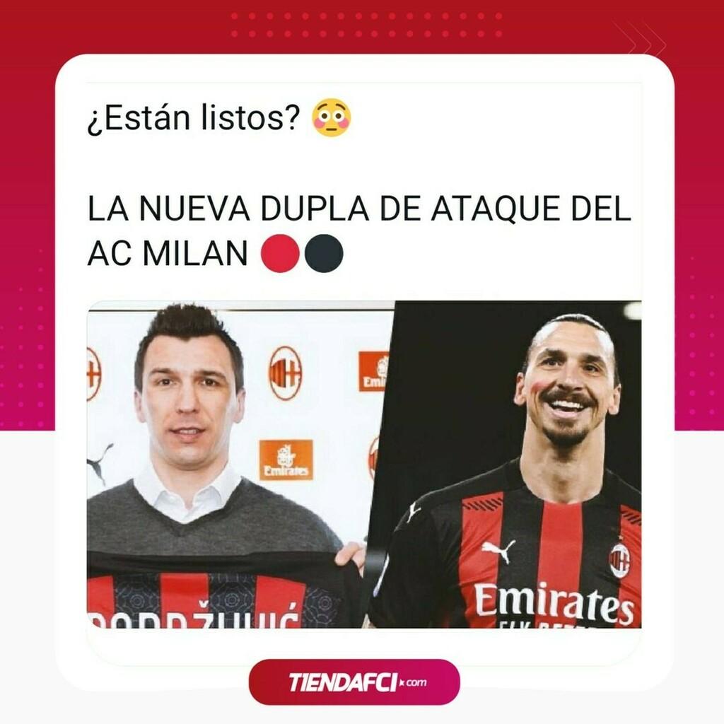 ¡ Este Milan nos enamora ! Miren que delantera armará el club Rossonero con la llegada de Mandzukic. 🔥  . . . . . . #james#colombia #realmadrid #love #jamesrodriguez #fcbayern #bayern #halamadrid #miasanmia #cristiano #bayernmunich #cr7 #seleccioncolombia #messi #lebron #cri…