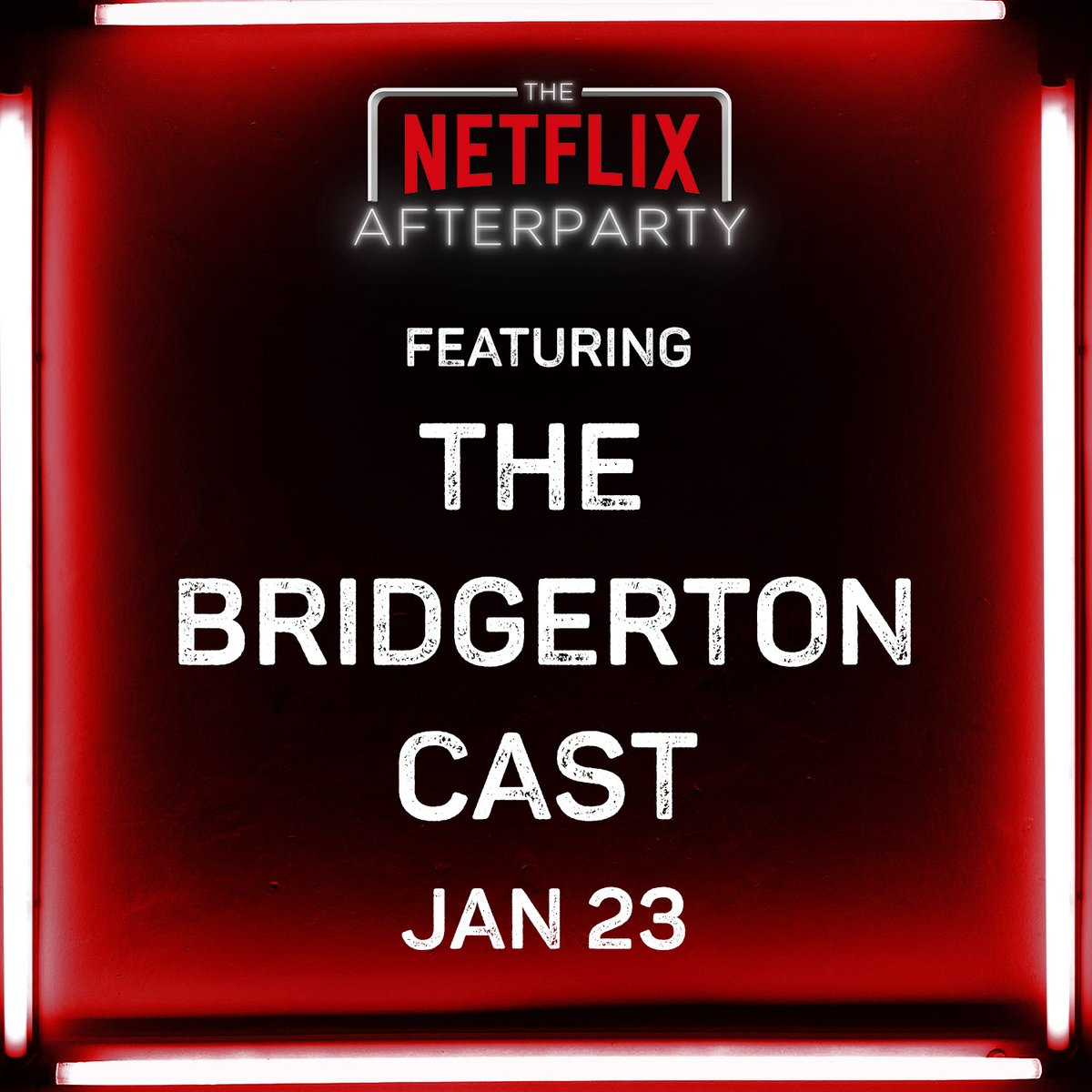 Indeed! An all-new episode of The Netflix Afterparty with the cast of @bridgerton is premiering Jan 23 on Netflix.