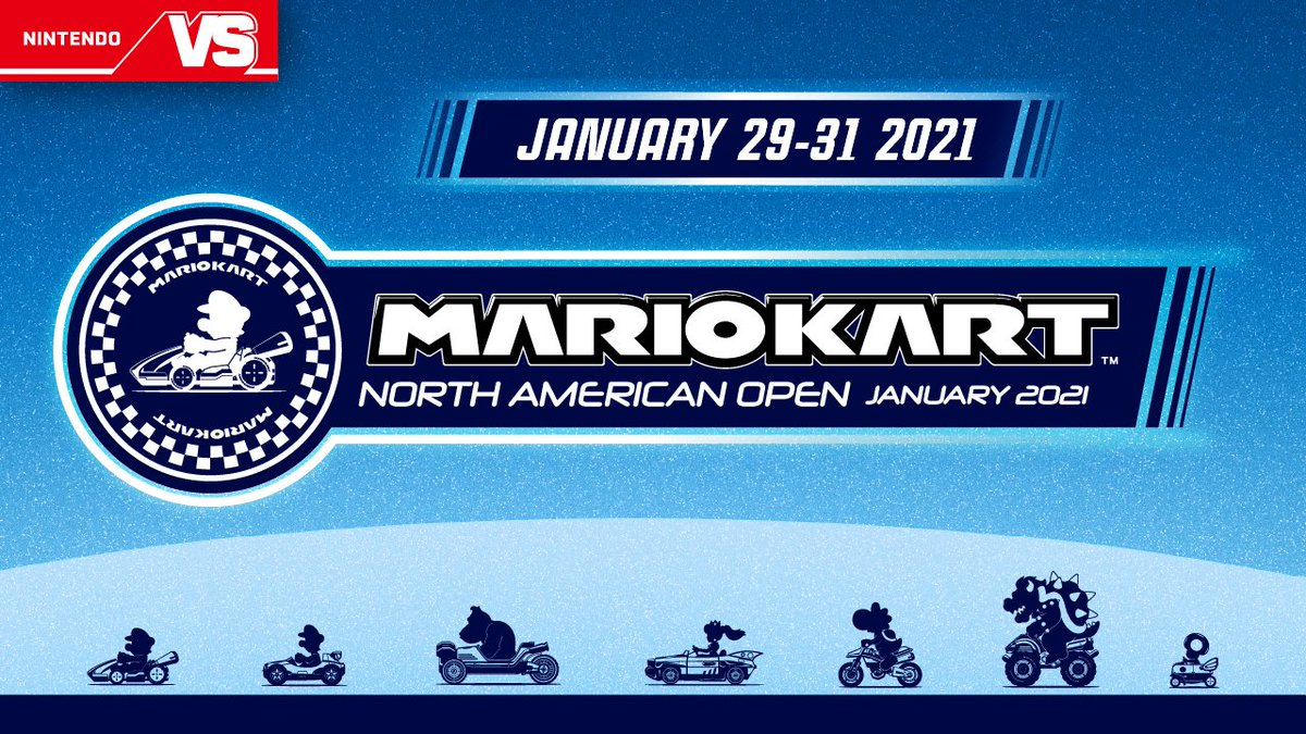 VROOM! 🏁 Join the #MarioKart NA Open January 2021 tournament! The top 8 players from each day will receive 2,500 Gold Points!  The first tournament of the new year is live from 1/29 – 1/31.