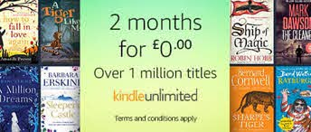 If you've never had a Kindle Unlimited subscription, you can get a FREE two-month trial in this special deal from Amazon.   There are so many great books - including most of mine.   #kindleunlimited #ku #amazon #BlackFridayAmazon #writerslift #books