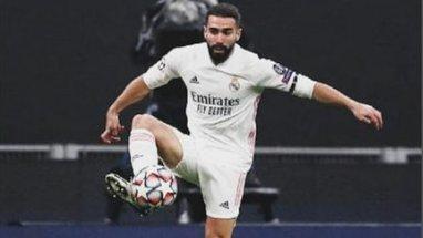 Ainda com problemas físicos, Carvajal é a primeira baixa confirmada para a partida de amanhã.   #realmadrid #halamadrid