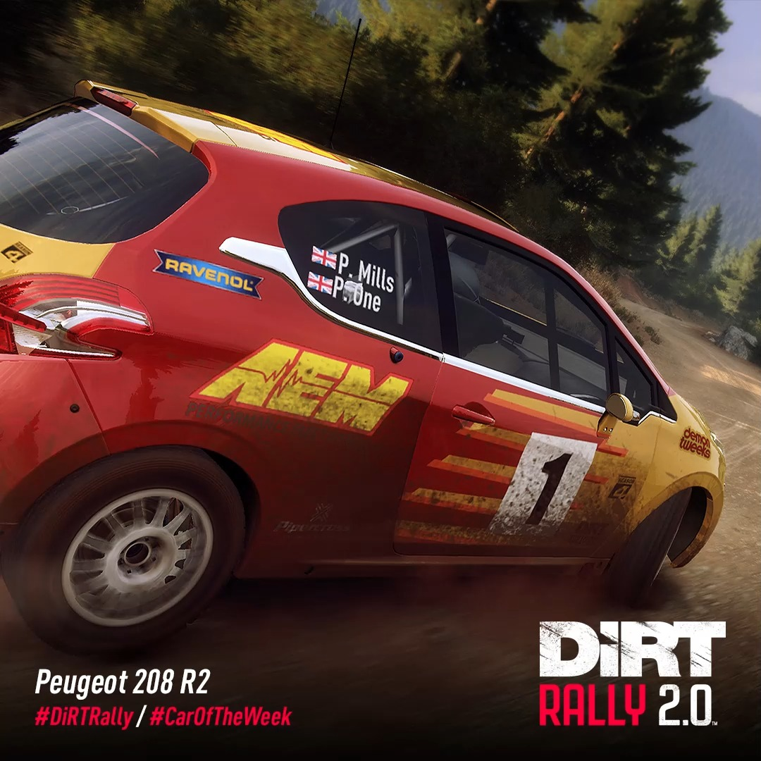 The Peugeot 208 R2 is a modern front wheel drive rally car, and a staple of the junior rallying scene. 🔰  Many of rally's future stars are competing in 208s in various competitions 🏆  #DiRTRally #CarOfTheWeek