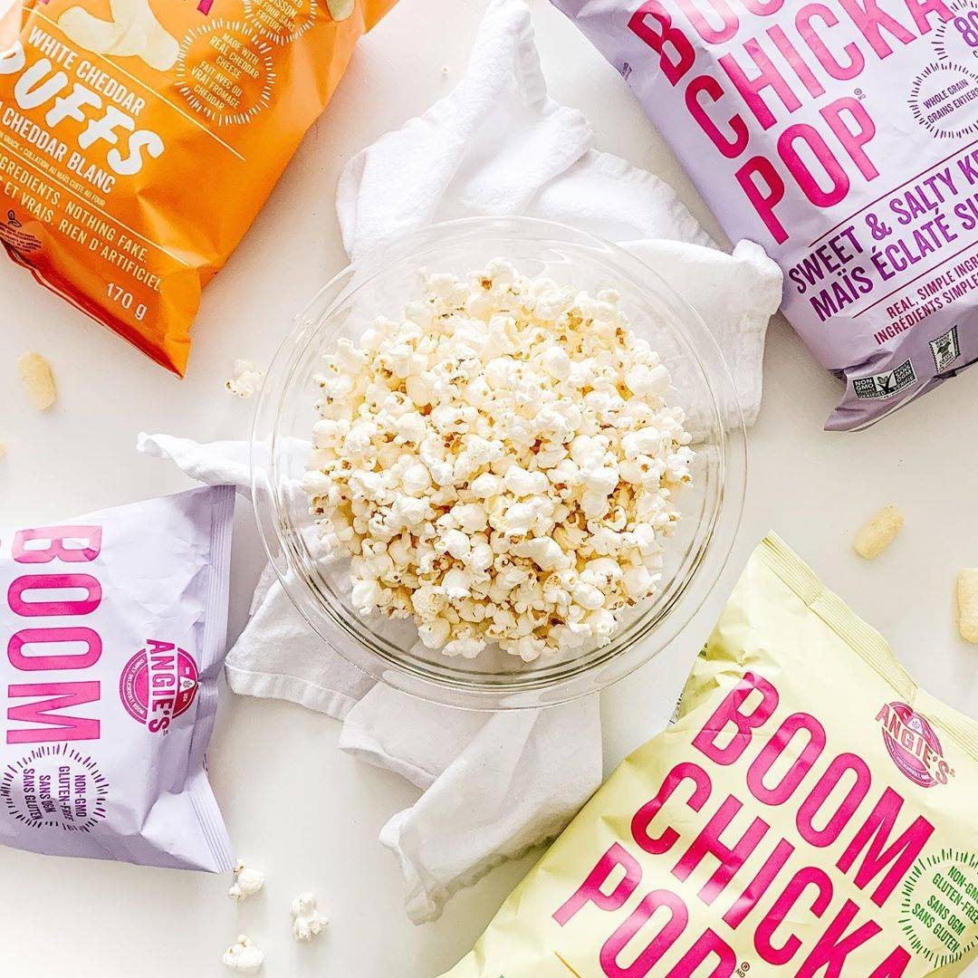 Happy #NationalPopcornDay 🍿, thanks for popping by (and please pardon the corny greeting) 😊. Today you have a completely legit reason to amp up your snacking game and try the delicious and healthy @Boomchickapop!   Shop all Angie's:
