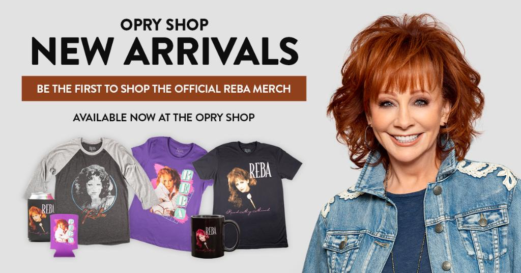 .@reba just celebrated her 35th Grand Ole Opry induction anniversary!   We've got brand new Reba merch in-store and online to celebrate all year long.   Get yours here: