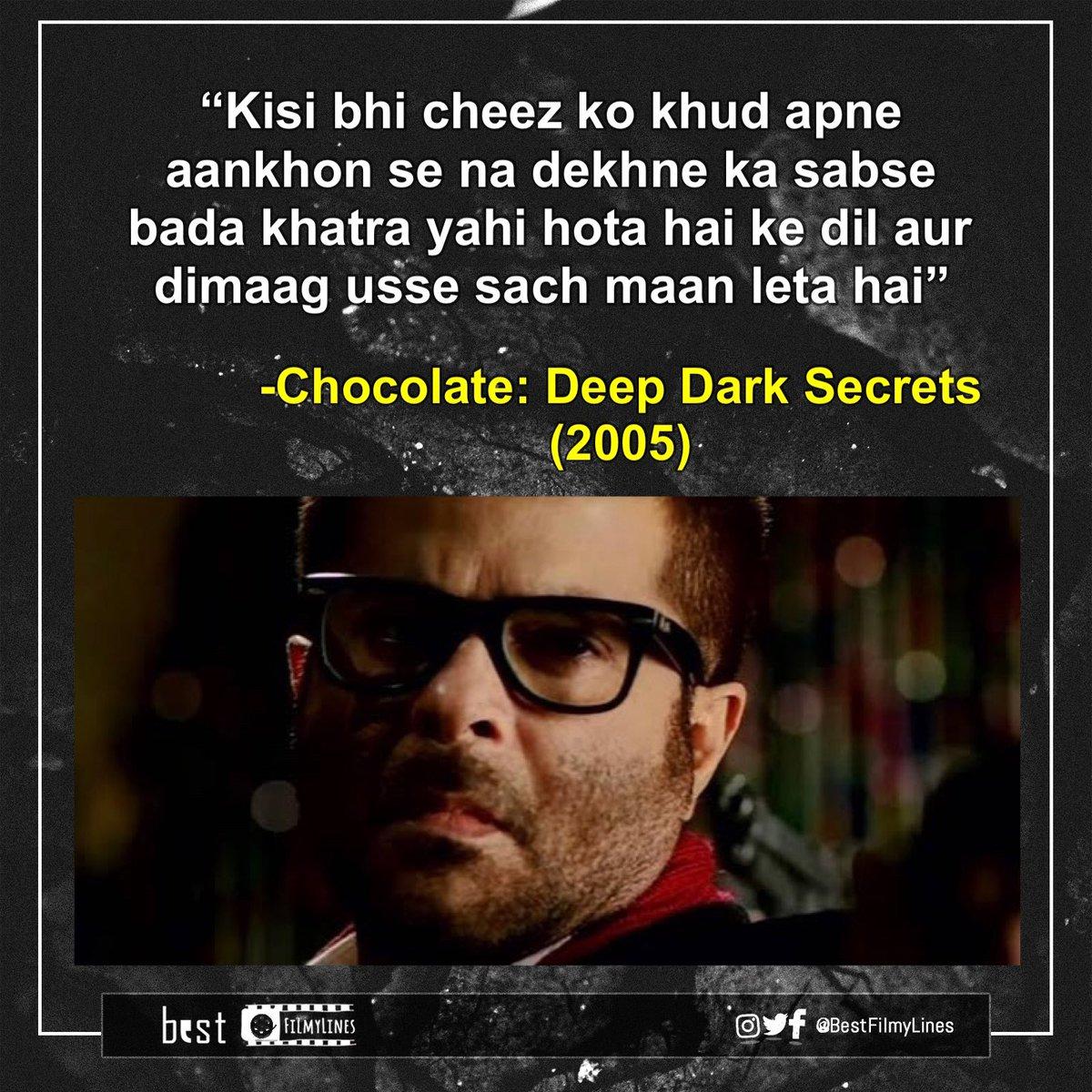 -Chocolate: Deep Dark Secrets (2005), dir. Vivek Agnihotri . . #anilkapoor #bollywood #bollywoodmovie #bollywoodmovies #bollywooddialogue #indiancinema #hindi #hindimovie #dialogue #dialogues #moviequotes #quote #quotes #bestfilmylines