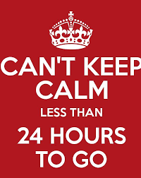 """The Ramones are playing in my head """"24 hours to go, I want to be sedated.. """"  #24hours #ByeFelicia"""