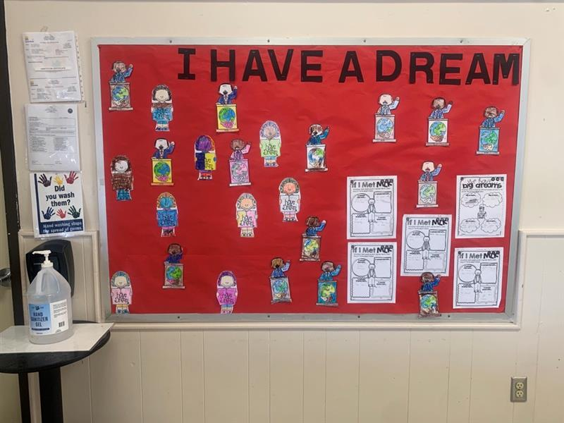 In honor of Martin Luther King Jr., Holly Hill Extended Day Enrichment Program created an