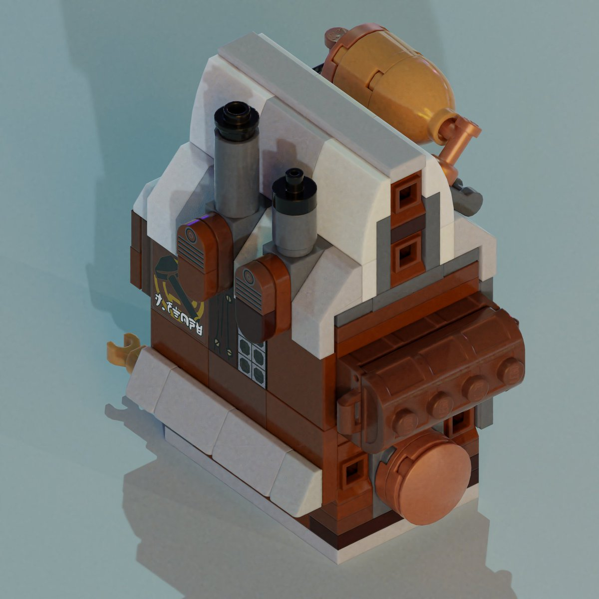 Sooo, I had huge @frostpunkgame project to make whole city in #LEGO but it turned out to be quite taxing effort. To not fully lost interest, I decided to show parts of city instead of showing all when done. Let's start with houses, 1st variant. #steampunk #FrostPunk #AFOL #scifi