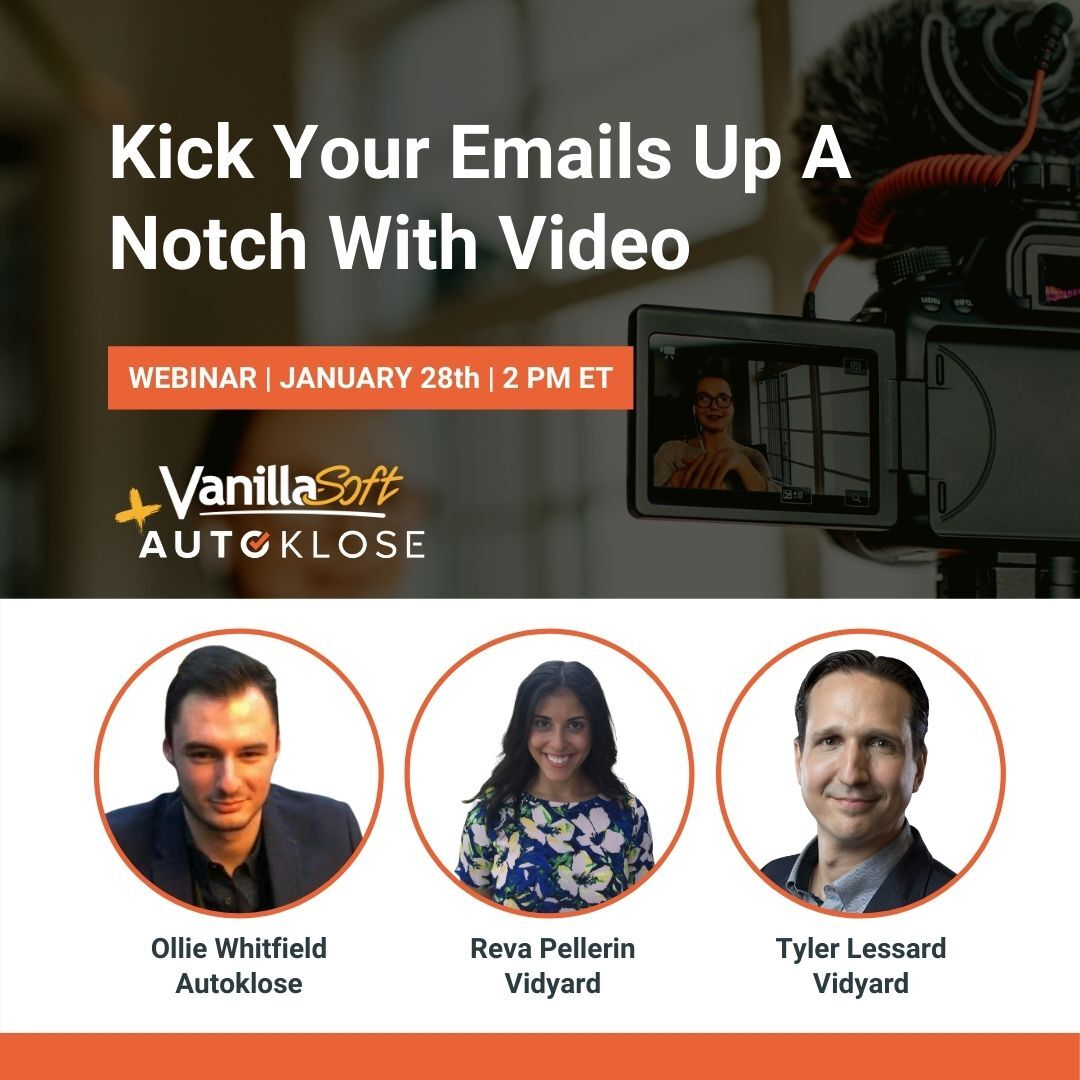 Looking for a new idea that will really change things up and grab your prospects' attention?  Join @revapellerin and @tylerlessard from @Vidyard as they share their #video secrets with @OllieWhitfield_.  Register now!   #SalesTips #prospecting