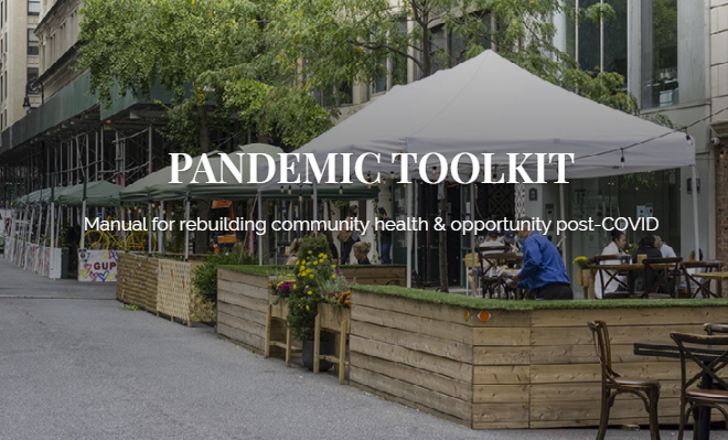 Today's #OntheParkBench features the Pandemic Toolkit. This is a distillation of an ongoing, crowd-sourced compilation of reality-tested strategies to help local and regional governments respond to challenges imposed by COVID-19.