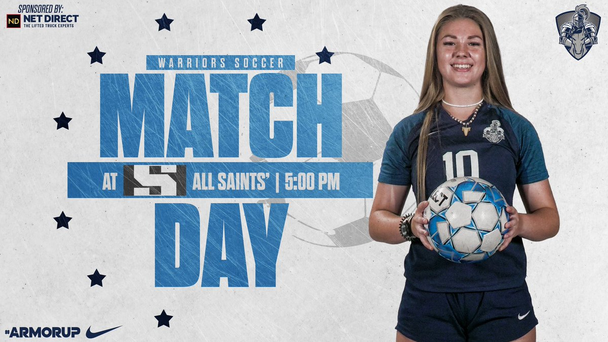 🚨GAMEDAY🚨 ⚽️@LCS_WSoccer  🆚 @PTFSaints_GSoc  ⌚️5:00PM 📍@asesftw   #ARMORUP | #FORHIM