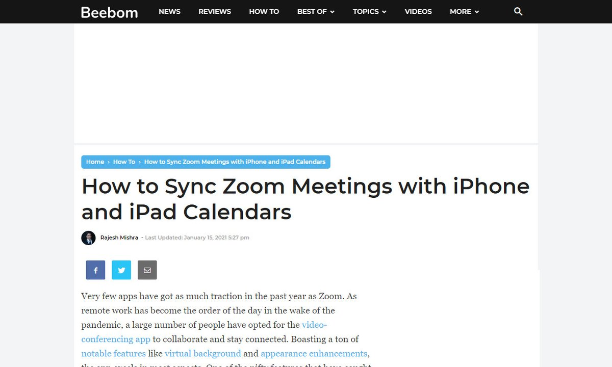 How to Sync Zoom Meetings with iPhone and iPad Calendars #ipad #features #stay #video-conferencing #sync #remotework via  ☛