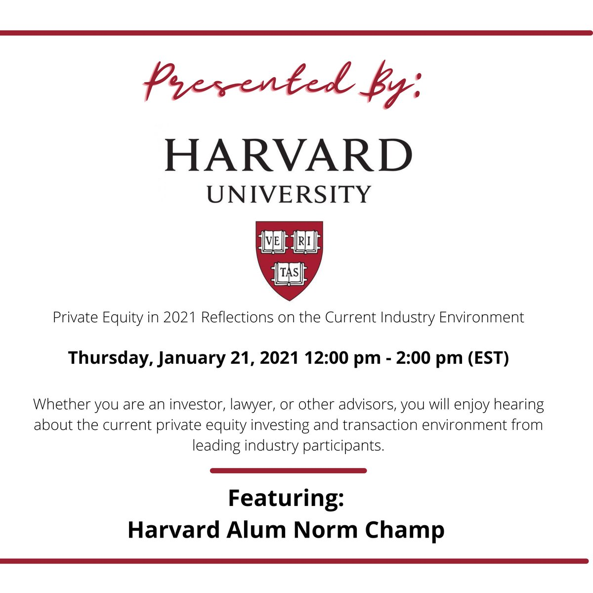 Very excited to speak on this panel discussion at my alma marter @Harvard RSVP Here:  #harvard #harvardUniversity #business #nycbusiness #COVIDbusinesses #COVIDaffected #tech #fintech #evolution