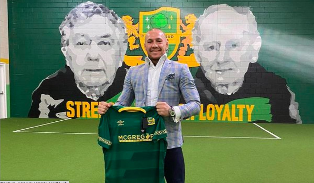 Watch: 'Strength through loyalty' — Players from Conor McGregor's childhood football team @CelticLourdes wish him well ahead of Poirier bout |