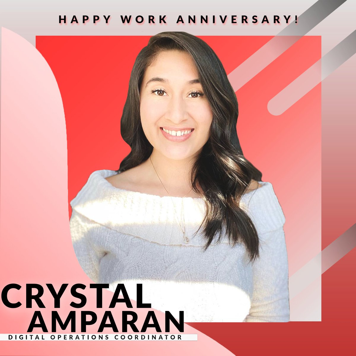 #HappyAnniversary to Crystal Amparan! It's been four years since she's started with VDS as an Account Manager and since has evolved into our Digital Operations Coordinator! This #bossbabe loves to go on runs, dance, and snuggle with her golden retriever, Summer! 🦮 #VDSLife
