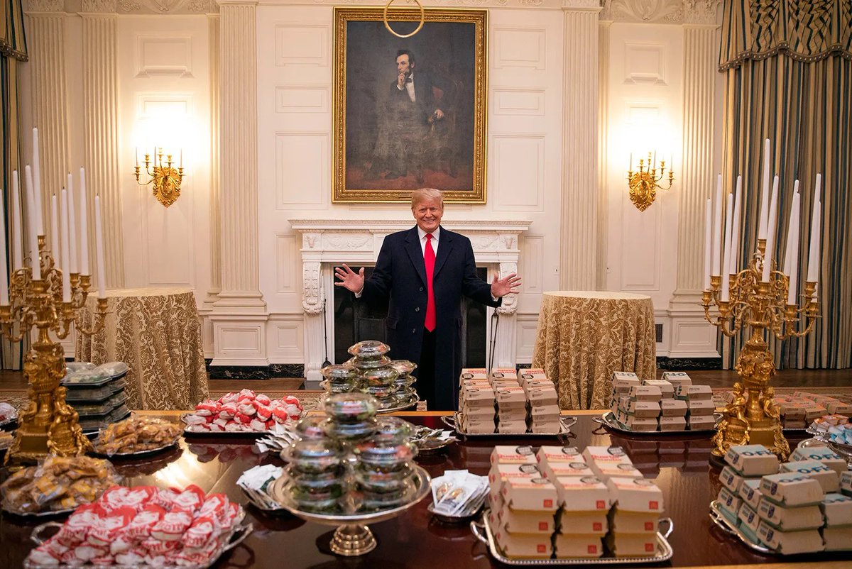 Going to tell my kids this is Ronald McDonald. #TrumpsLastDay