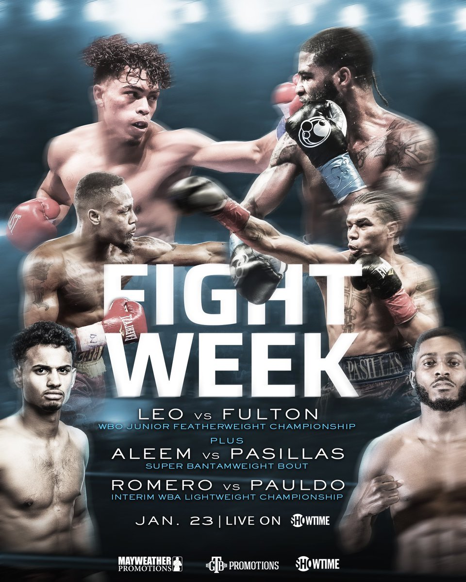 test Twitter Media - When you talk about a stacked card from top to bottom 🔥 WBO title on the line, undefeated elite talent clashing, and styles sure to make an action packed night. #LeoFulton is must-see 📺 Saturday night 😎 9pm ET/6pm PT https://t.co/rQee4Ox605