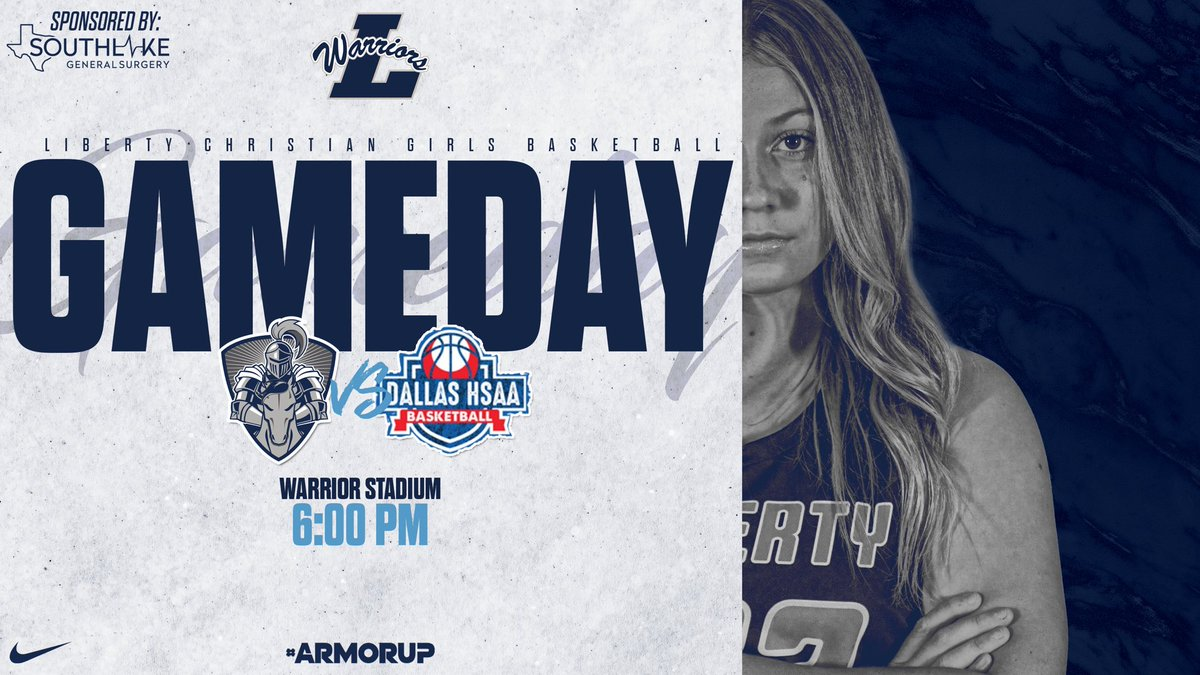 🚨GAMEDAY🚨 🏀@LCS_WBasketball  🆚 HSAA ⌚️ 6:00PM 📍@LibertyArgyle  📲Watch Live via @Warrior_Vision  💻   #ARMORUP | #FORHIM