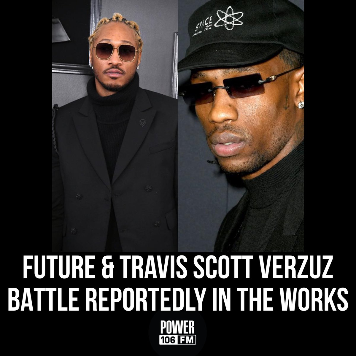 Fans believe that a Future & Travis Scott #Verzuz could be on the way! 🤔🔥👀 Who do y'all think would take the W in this battle, if it happens⁉️ • 📸: Kevin Winter, Jon Kopaloff / Gett Images