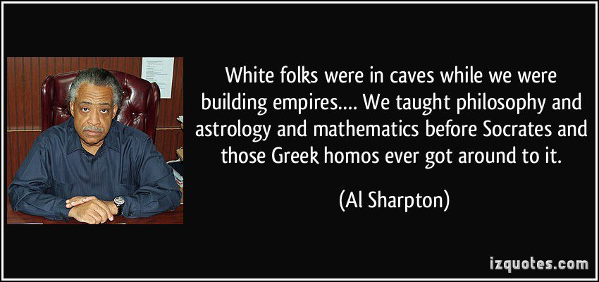 Sharpton is considered one of the preeminent civil rights leaders by today's Democrats.  #tuesdayvibe
