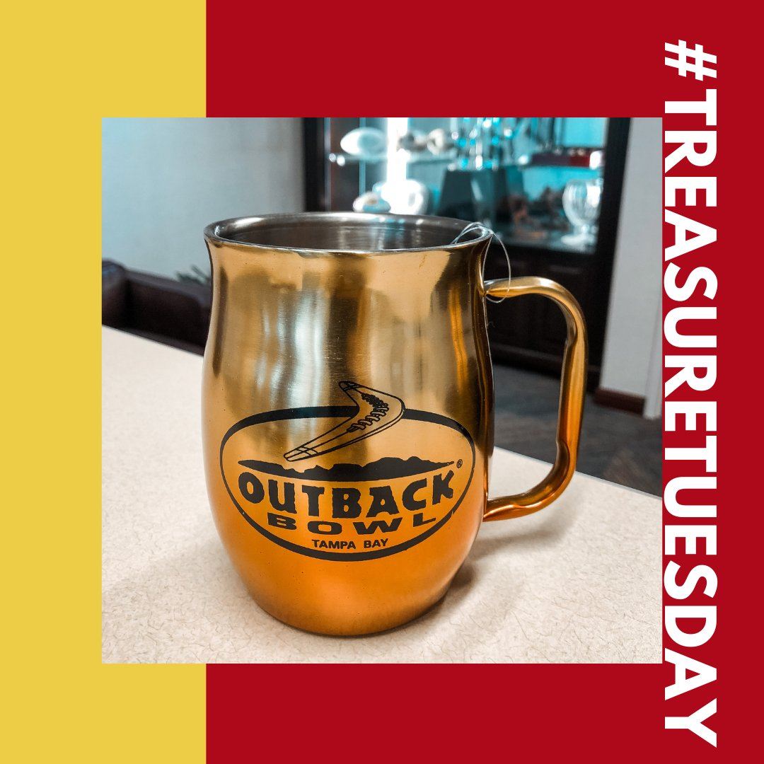 We're sending some Tampa Bay warmth to one special winner with this classic #OutbackBowl brass mug! ☕ To enter for a chance to win:  1. Follow us! 👈 2. Retweet this post! ♻️ 3. Tag 2 @outbackbowl fans!  #TreasureTuesday #OutbackBowl #Giveaway