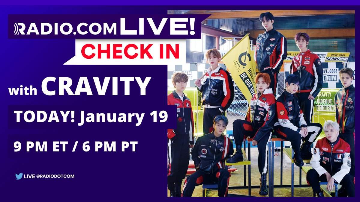 Hey #LUVITY! To celebrate the release of @cravity_twt's 'SEASON3. [HIDEOUT: BE OUR VOICE]' we have a special #RDCxCheckIn hosted by @kevankenney! 😍 Join us right here on Twitter, TONIGHT at 9 PM ET!  #HIDEOUT | #BE_OUR_VOICE | @CravitySTARSHIP