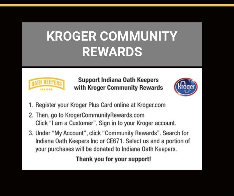 .@Kroger, why are you helping the Oath Keepers, a militia group, raise money??