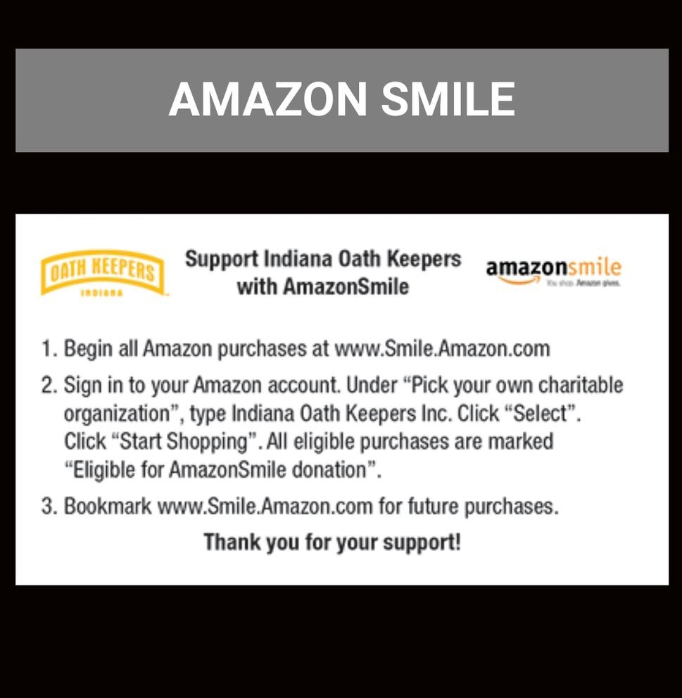 .@amazonsmile, why are you helping the Oath Keepers, a militia group, raise money??