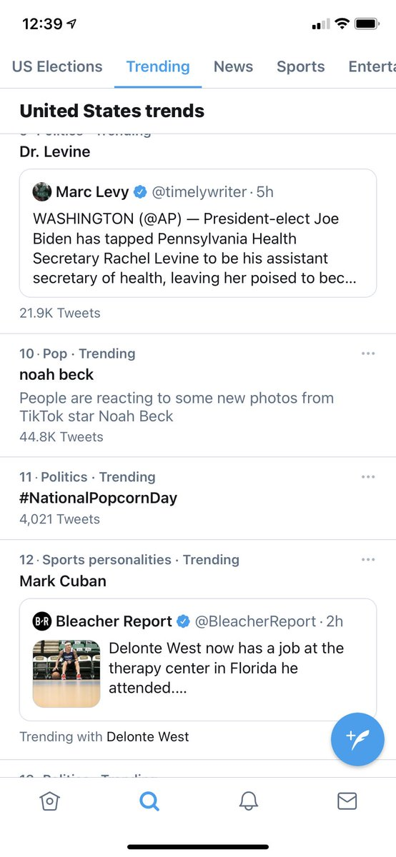 Why is national popcorn day trending under politics? 😂