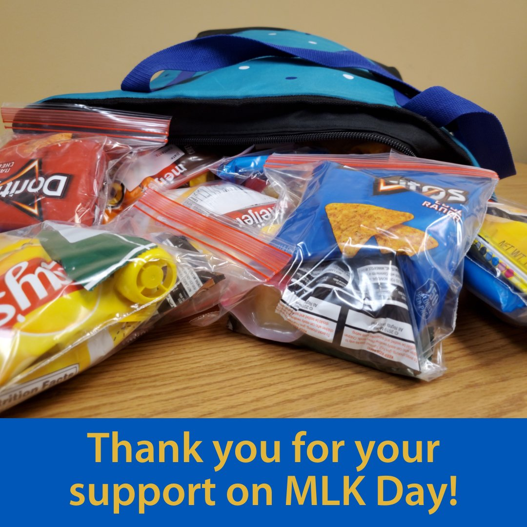 Thank you to Erica Andee, and Maizee Short and the many others who served our neighbors on Martin Luther King Jr. Day by providing snack packs. https://t.co/RFwn6D9Yqe