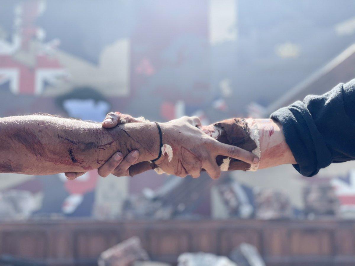 Climax shoot OF #RRR BEGINS! Kya baat hai🤗 #JrNTR @AlwaysRamCharan  #RRRMovie also stars @ajaydevgn and @aliaa08!! Can't wait for this one! 🔥🤗  #Sidk @ssrajamouli @DVVMovies #SSrajamouli #DVV #RamCharan #AjayDevgn #AliaBhatt