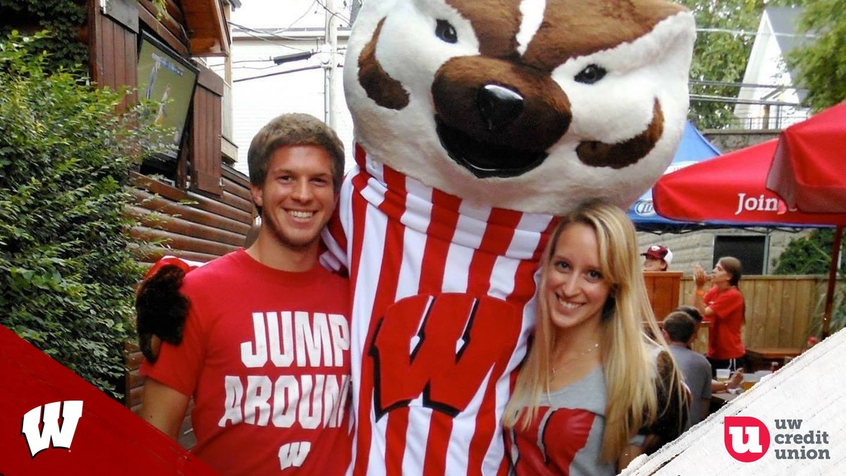 """Congrats to the """"@UW_CreditUnion Fan of the Game,"""" Joey D'mato from Madison  Thanks for cheering on our Badgers and showing your Wisconsin Pride!  For your chance to be selected as Fan of the Game, enter:"""