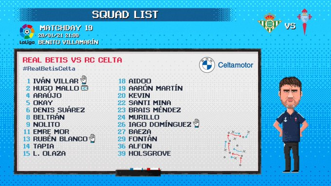 Here's our squad-list for !