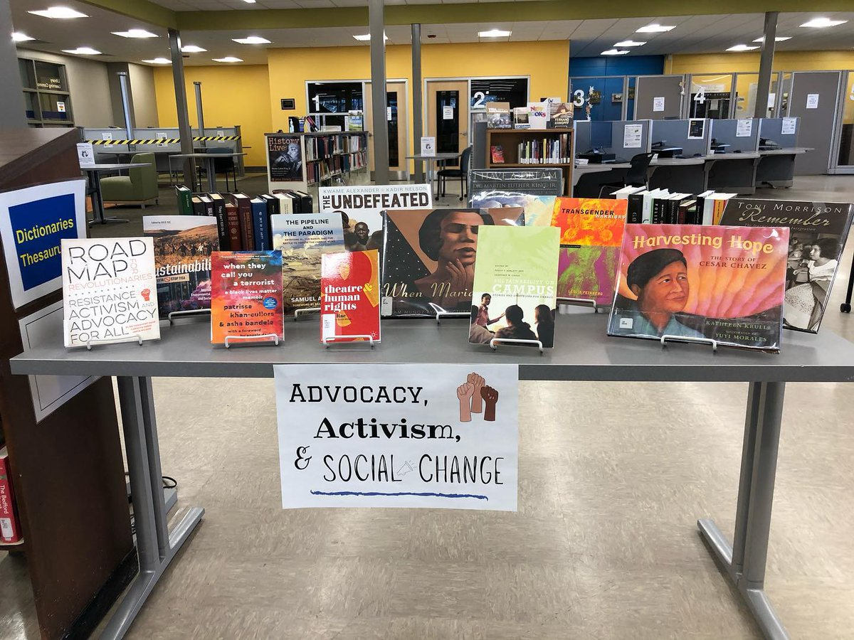 Did yesterday's Martin Luther King Jr Day observance get you fired up and ready to make a difference?? Come check out the Gorham Library's new book display, which features biographies, academic studies, and how-to guides for advocates, activists, and change makers of all kinds! https://t.co/4yAcr1NhWR
