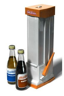 Number 8 SodaStream cola. Flat, fake pop.