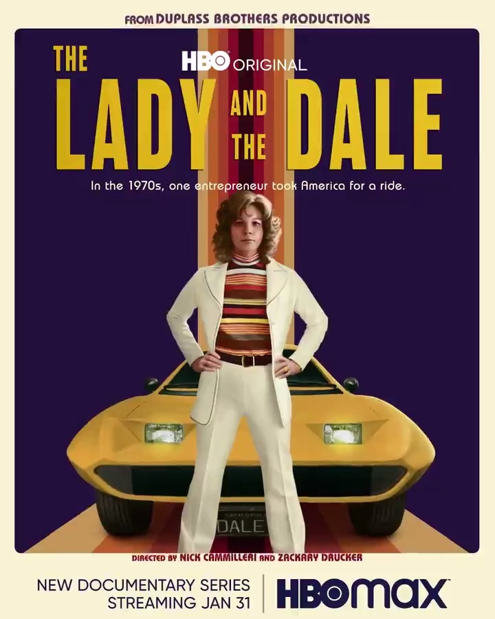 Witness the true story of a woman and her car, January 31 at 9PM on @HBOMax. #TheLadyAndTheDale