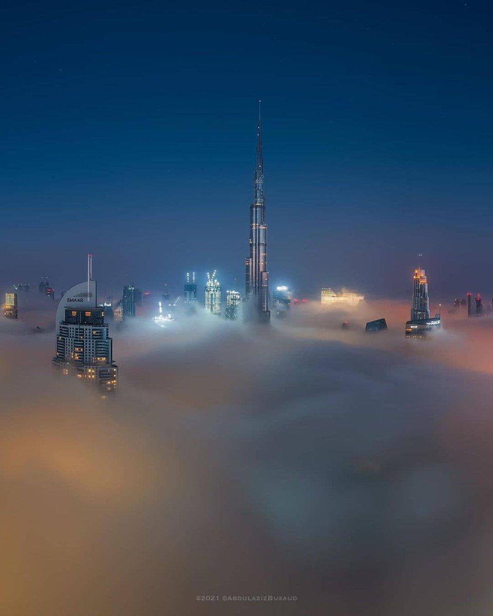 Fog season. Photo by ig:abdulazizbusaud #PicsDubai #MyDubai #VisitDubai #PhotoOfTheDay #PicOfTheDay #InstaLike #City #Skyline #Skyscraper #Design #love #instagood #happy #travel #kind #future #2021 #newyear #fog #KeysOfDubai