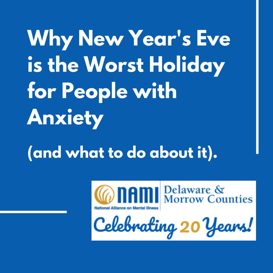 Holidays are generally difficult for people with anxiety, and New Year's may be the worst.  Here are some reasons why you or your loved one may be struggling with New Years' anxiety, and what to do.  #newyear #anxiety #coping