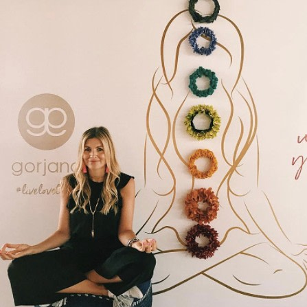 Om.🧘🏼‍♀️ Gorjana getting her chakras aligned at Create & Cultivate at the Knockdown Center. @gorjana_brand  @createcultivate  #TBT  #bfloralnyc #eventdesigner #eventdesigners #flowerlovers #eventdesigns #floraldesigner #floraldesigns #flowers #flowerpower