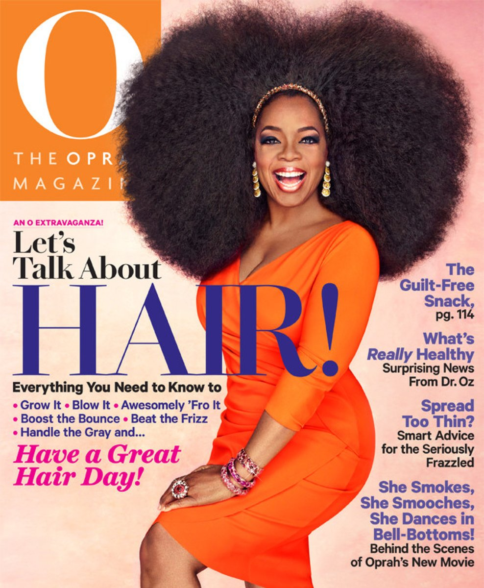 LOOK: Oprah's New Hair-Raising Cover. #hair #beautysecrets