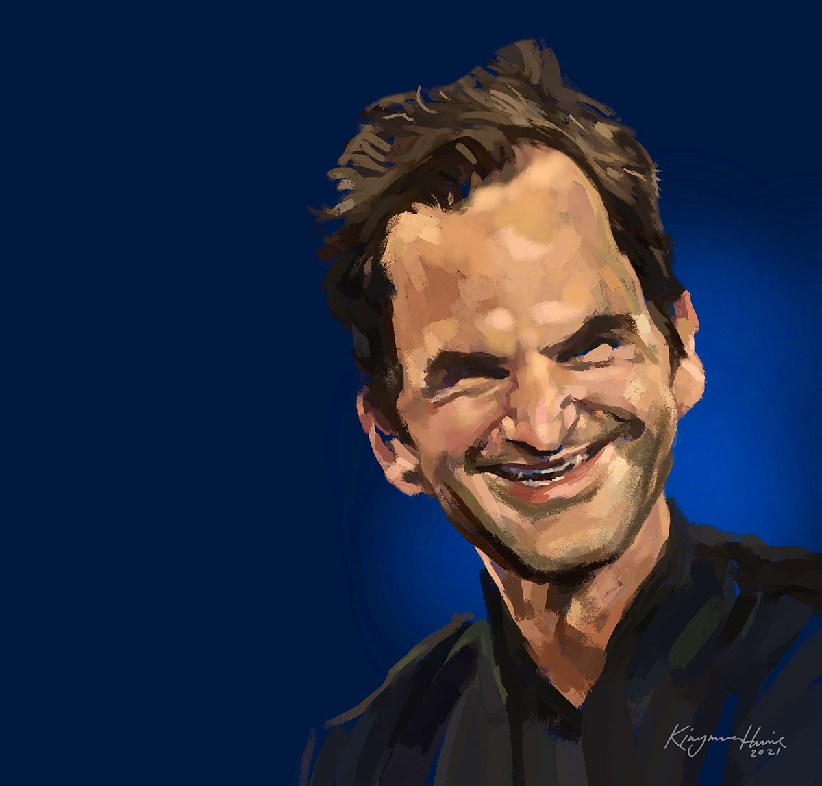 A new one I'm currently working on of Roger Federer. After being completely disrupted by 2020, it looks like my creative spark has suddenly reappeared. Happy AO2021 to team Procreate down in Tasmania! #caricature #rogerfederer @rogerfederer @AustralianOpen @usopen @Procreate