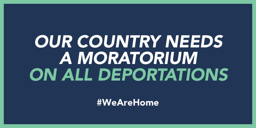 WHY A MORATORIUM ON ALL DEPORTATIONS?  A comprehensive moratorium will provide the Biden Admin with time/resources/opportunity to overhaul the interior #immigration enforcement machinery of the United States.  #WeAreHome